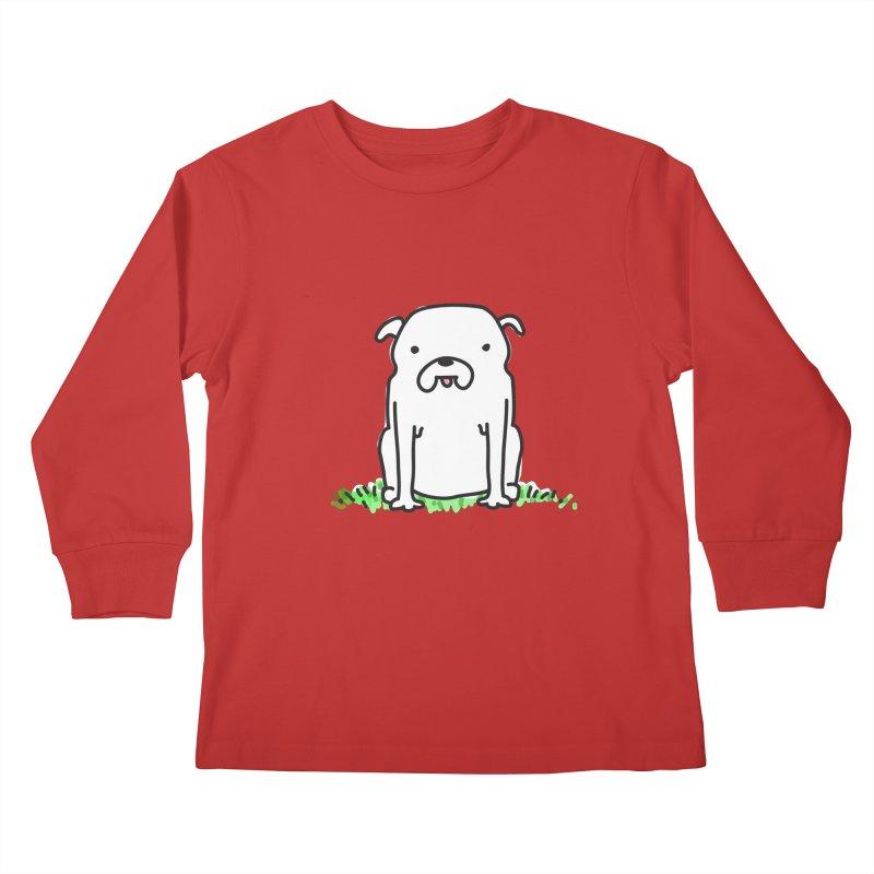 Dog Doodle Kids Longsleeve T-Shirt by kellabell9