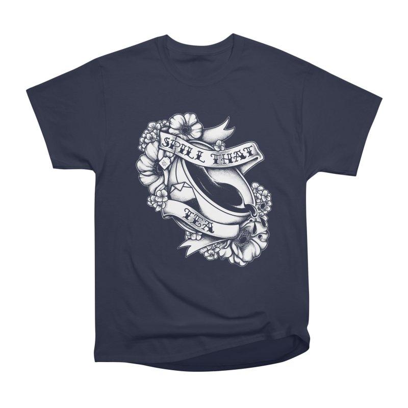 Spill That Tea Men's Heavyweight T-Shirt by kellabell9