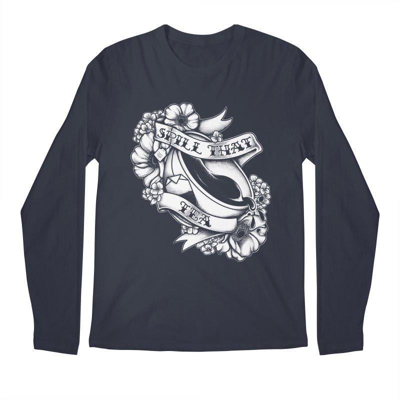 Spill That Tea Men's Regular Longsleeve T-Shirt by kellabell9
