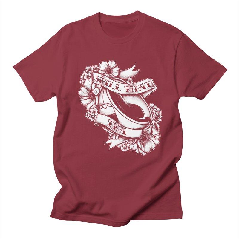 Spill That Tea Men's T-Shirt by kellabell9