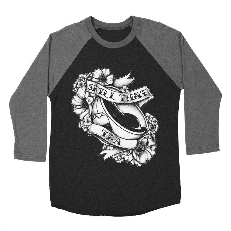 Spill That Tea Men's Baseball Triblend T-Shirt by kellabell9