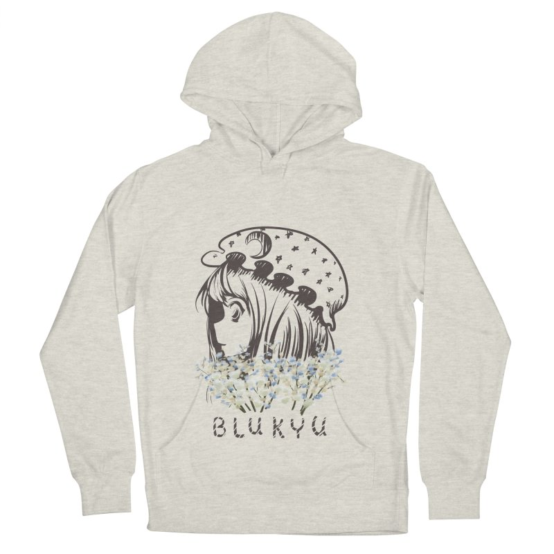 BLUKYU light color version Women's French Terry Pullover Hoody by kelletdesign's Artist Shop
