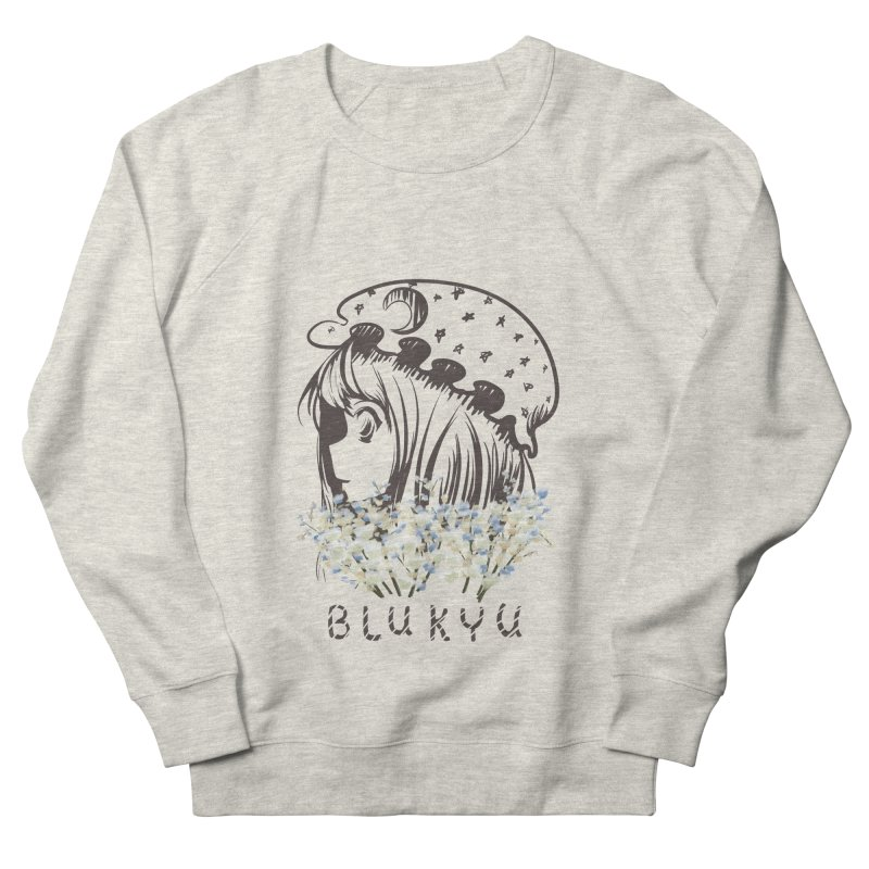 BLUKYU light color version Women's French Terry Sweatshirt by kelletdesign's Artist Shop