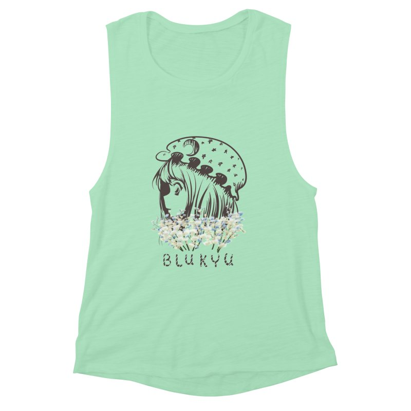 BLUKYU light color version Women's Muscle Tank by kelletdesign's Artist Shop