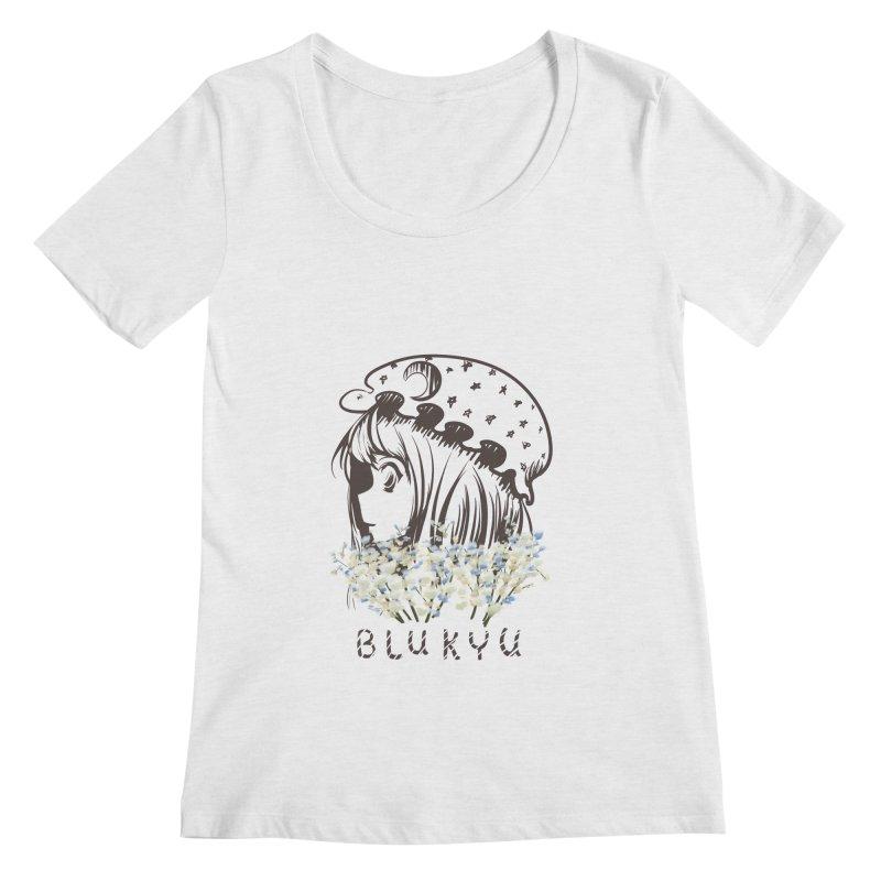 BLUKYU light color version Women's Regular Scoop Neck by kelletdesign's Artist Shop