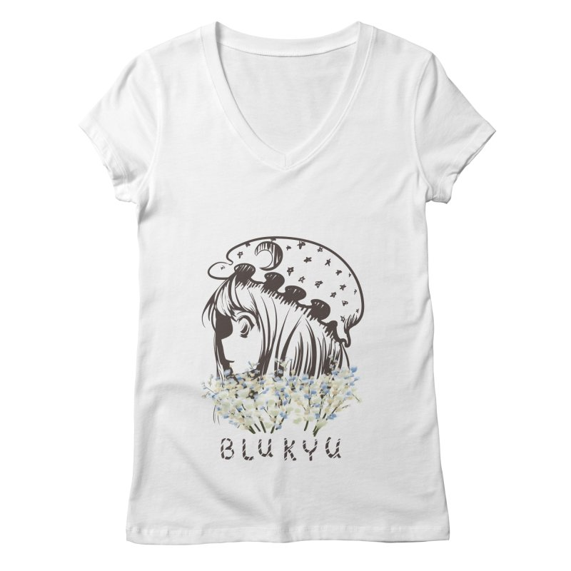 BLUKYU light color version Women's Regular V-Neck by kelletdesign's Artist Shop