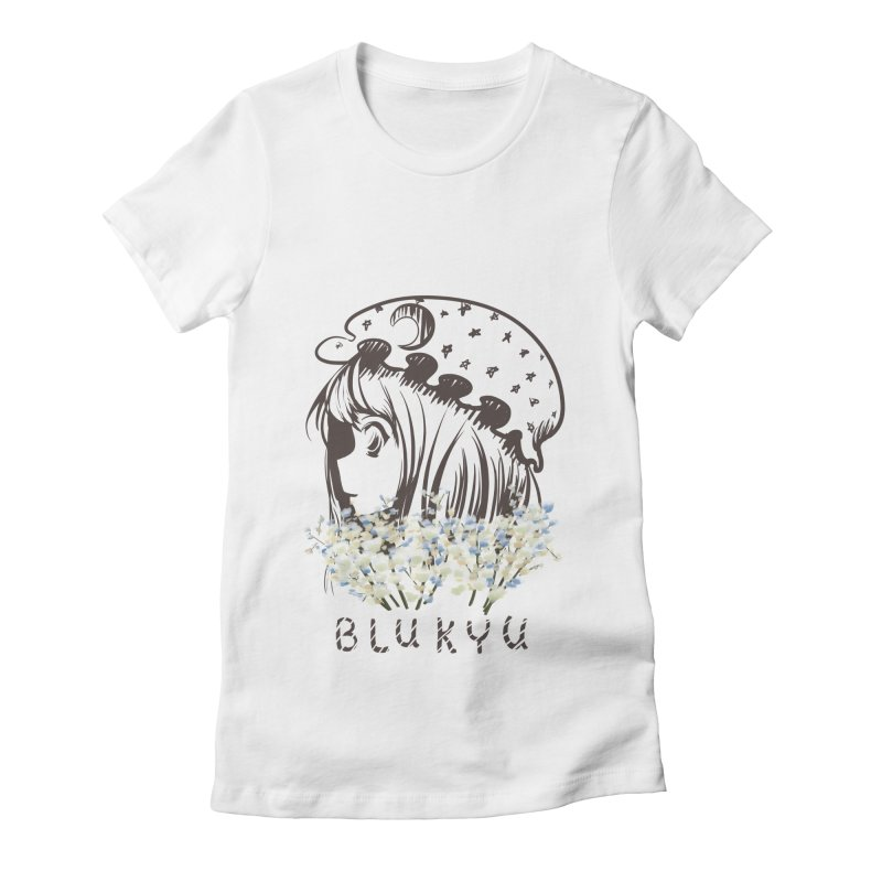 BLUKYU light color version Women's Fitted T-Shirt by kelletdesign's Artist Shop