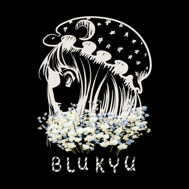 BLUKYU darker color version Women's Longsleeve T-Shirt by kelletdesign's Artist Shop