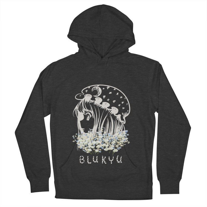BLUKYU darker color version Women's French Terry Pullover Hoody by kelletdesign's Artist Shop