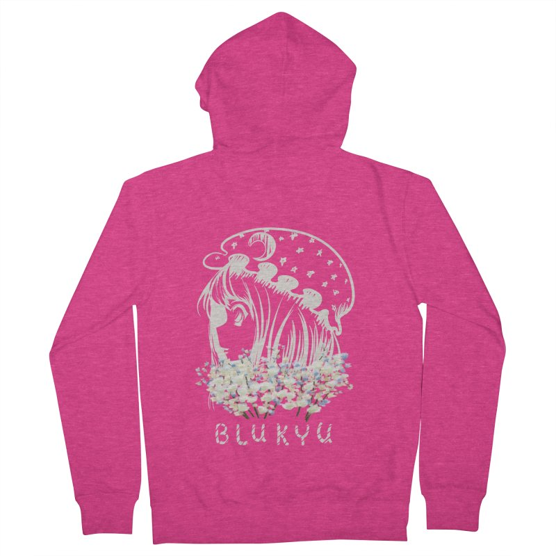 BLUKYU darker color version Women's French Terry Zip-Up Hoody by kelletdesign's Artist Shop