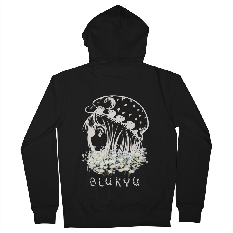BLUKYU darker color version Women's Zip-Up Hoody by kelletdesign's Artist Shop