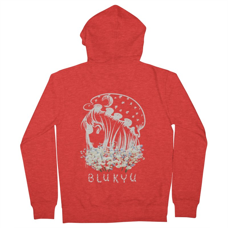 BLUKYU darker color version Men's Zip-Up Hoody by kelletdesign's Artist Shop