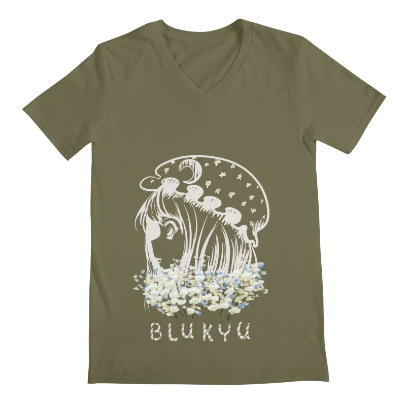 BLUKYU darker color version Men's V-Neck by kelletdesign's Artist Shop
