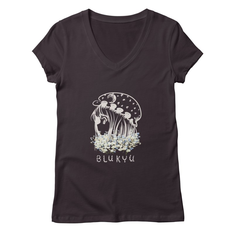BLUKYU darker color version Women's V-Neck by kelletdesign's Artist Shop