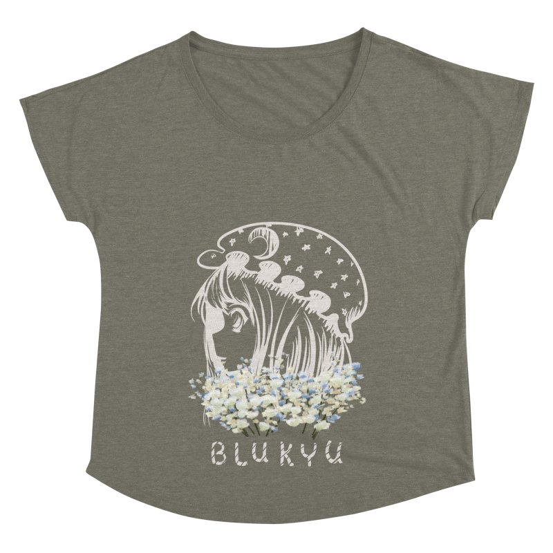 BLUKYU darker color version Women's Scoop Neck by kelletdesign's Artist Shop