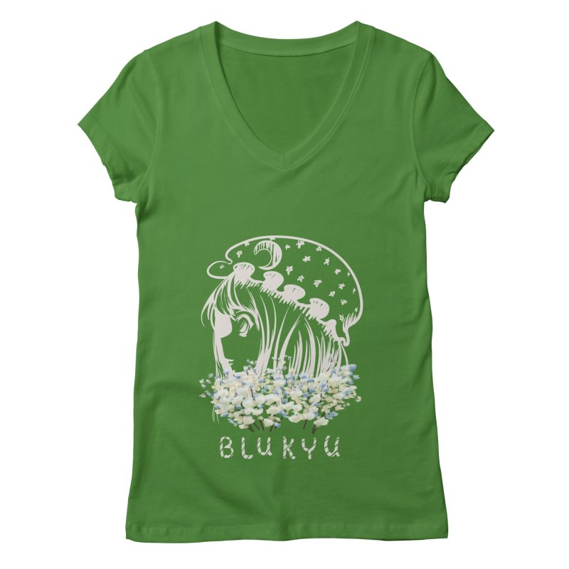 BLUKYU darker color version Women's Regular V-Neck by kelletdesign's Artist Shop