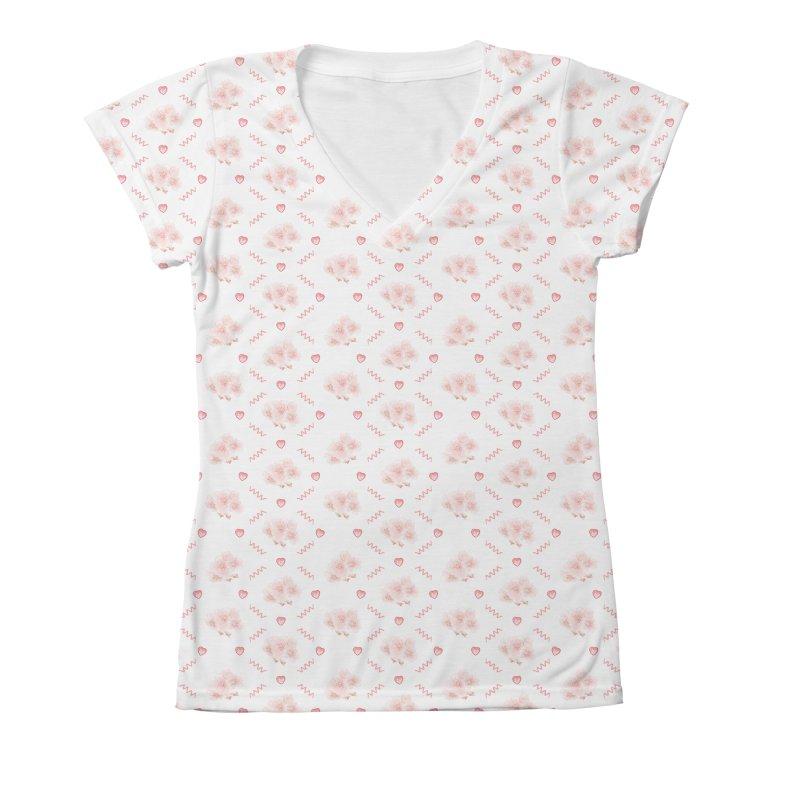 Spring up Women's V-Neck All Over Print by kelletdesign's Artist Shop