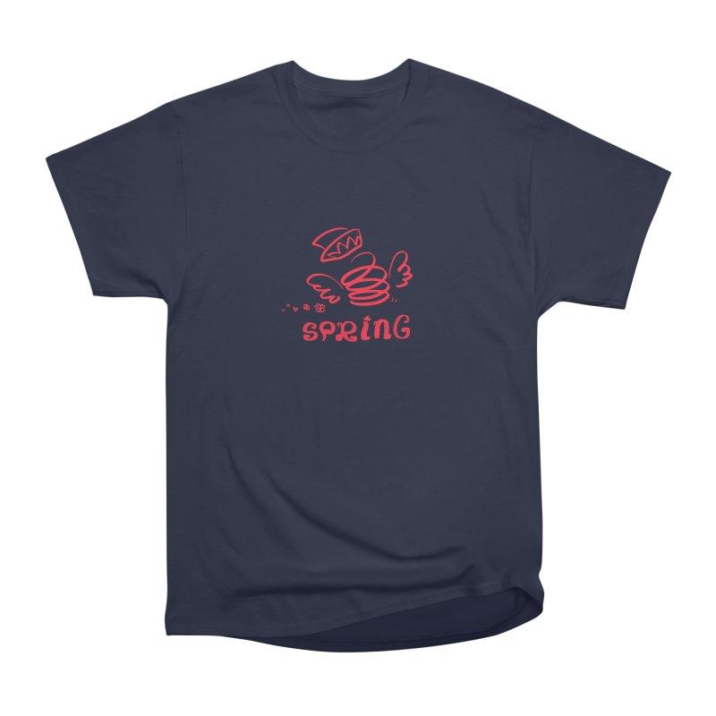 SPRING Men's Heavyweight T-Shirt by kelletdesign's Artist Shop