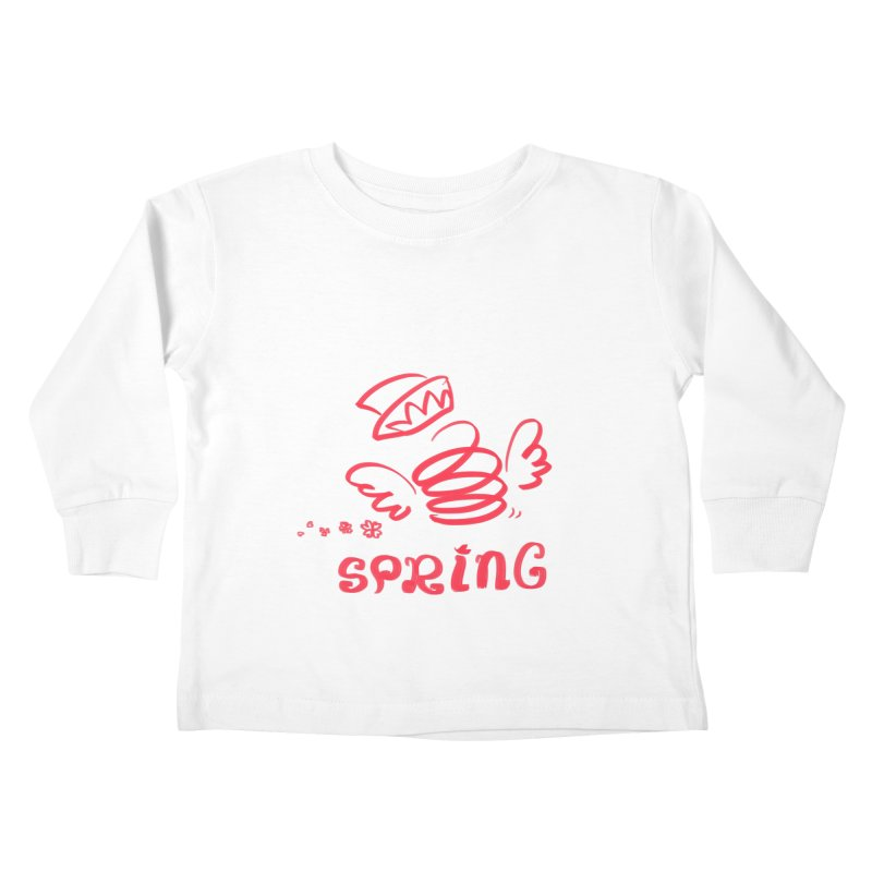 SPRING Kids Toddler Longsleeve T-Shirt by kelletdesign's Artist Shop