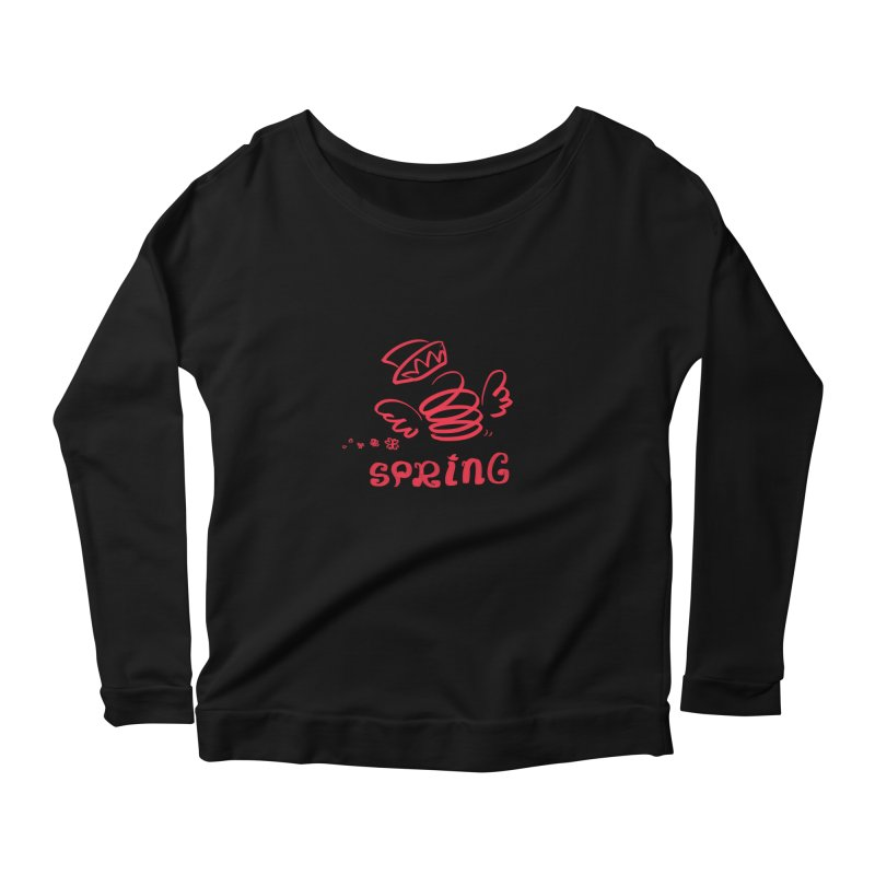 SPRING Women's Scoop Neck Longsleeve T-Shirt by kelletdesign's Artist Shop