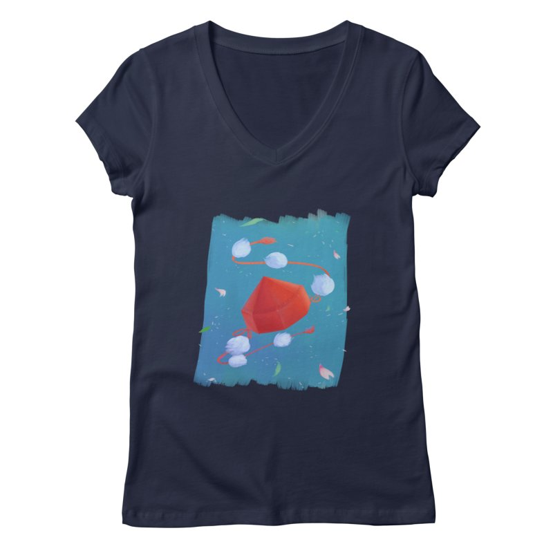 Ayaya cap Women's V-Neck by kelletdesign's Artist Shop
