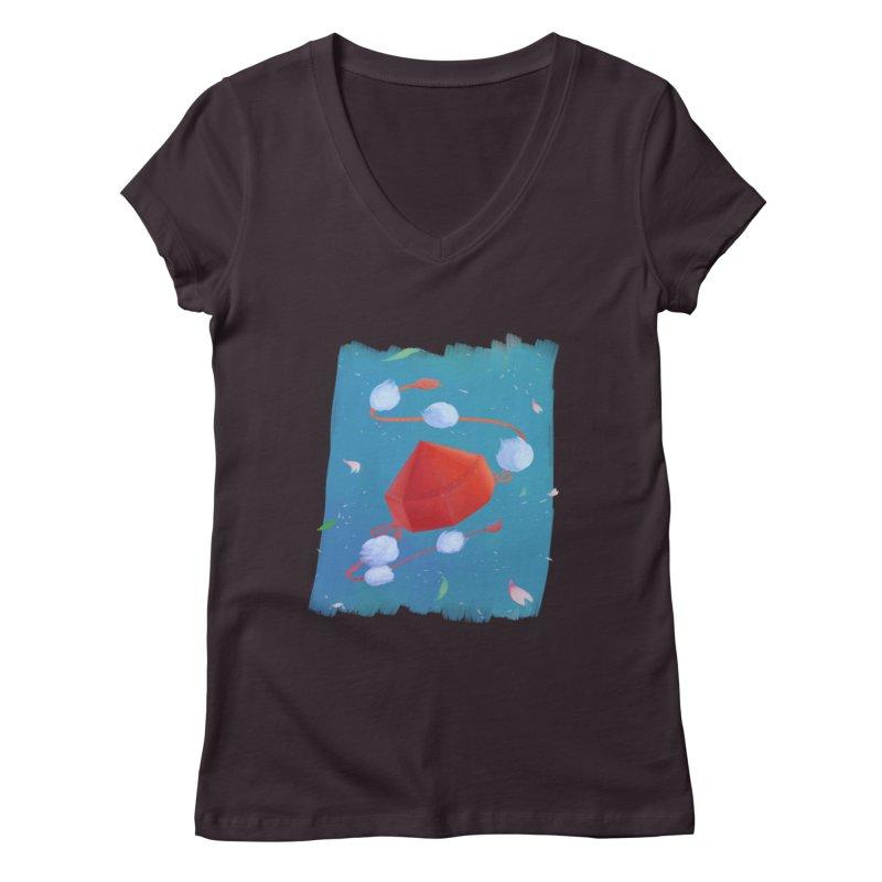 Ayaya cap Women's V-Neck by kelletdesign's Artist Shop
