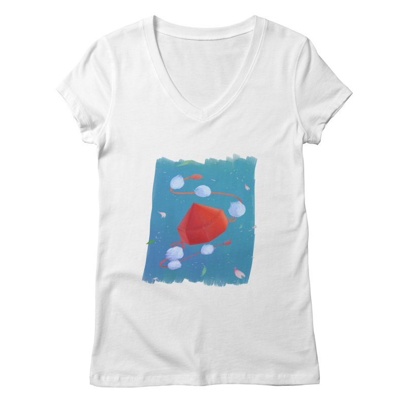 Ayaya cap Women's Regular V-Neck by kelletdesign's Artist Shop