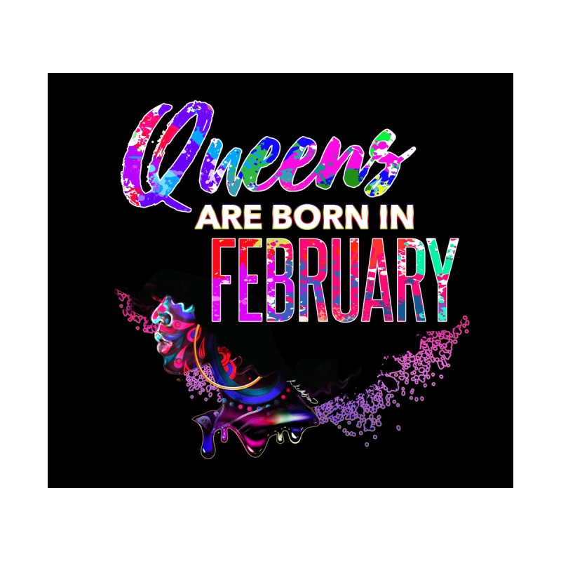QUEENS BORN IN FEB TEE by KELLIEBREW'S WORLD