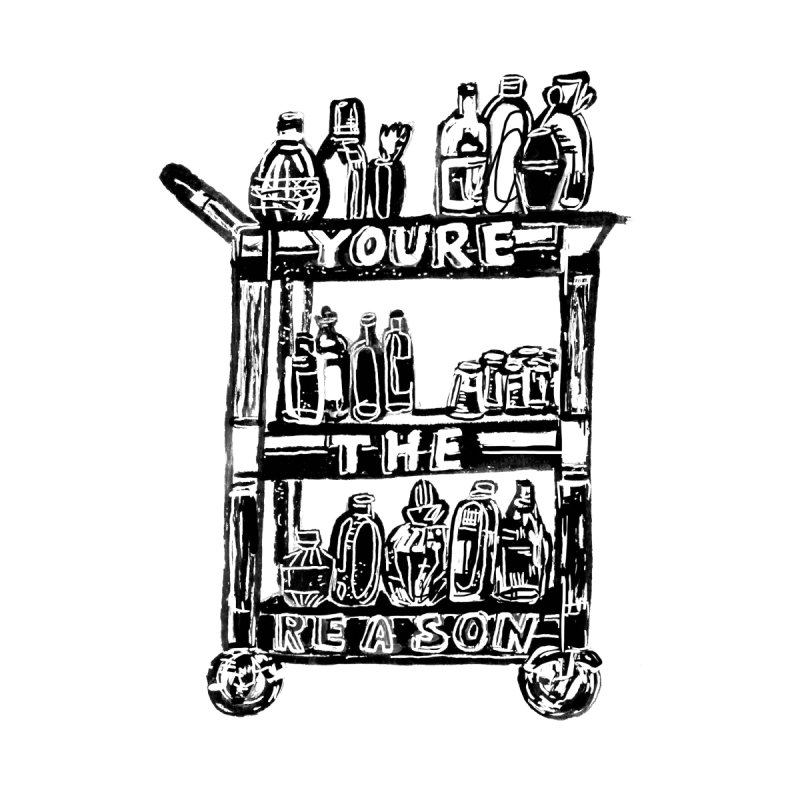 You're The Reason Accessories Bag by Kelsey Zigmund Illustration