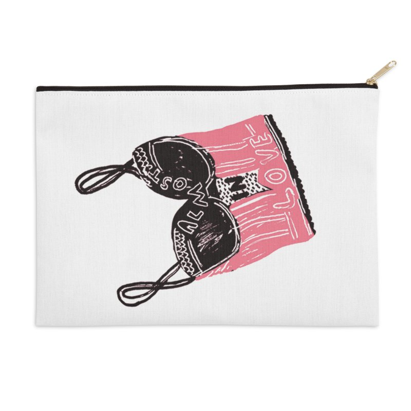 Almost In Love Accessories Zip Pouch by Kelsey Zigmund Illustration