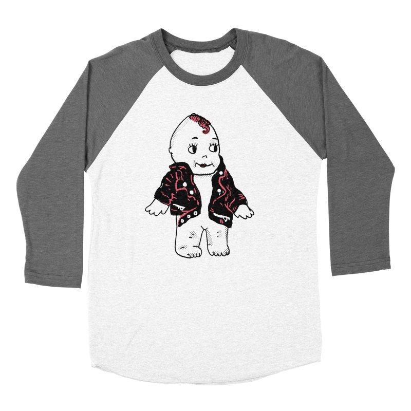 Rocknroll Cutie Women's Baseball Triblend Longsleeve T-Shirt by Kelsey Zigmund Illustration
