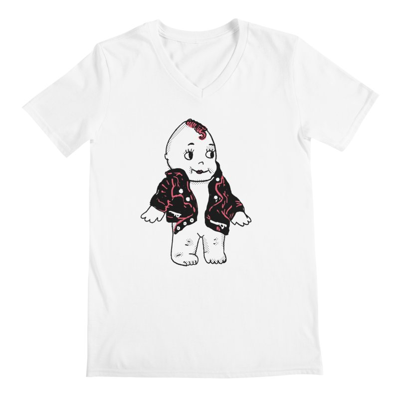 Rocknroll Cutie Men's V-Neck by Kelsey Zigmund Illustration