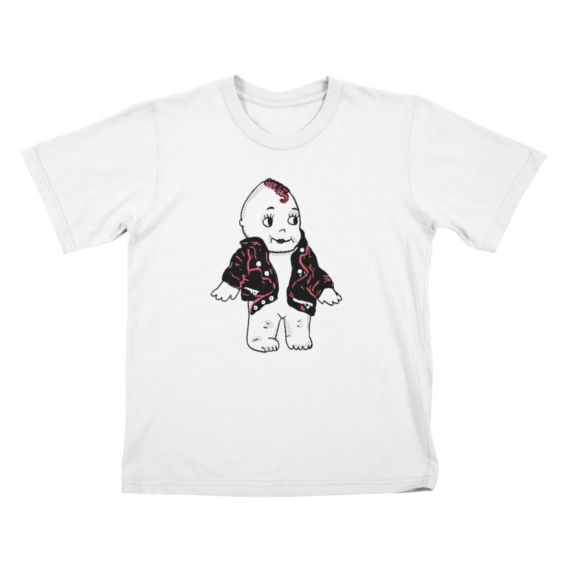 Rocknroll Cutie Kids T-Shirt by Kelsey Zigmund Illustration