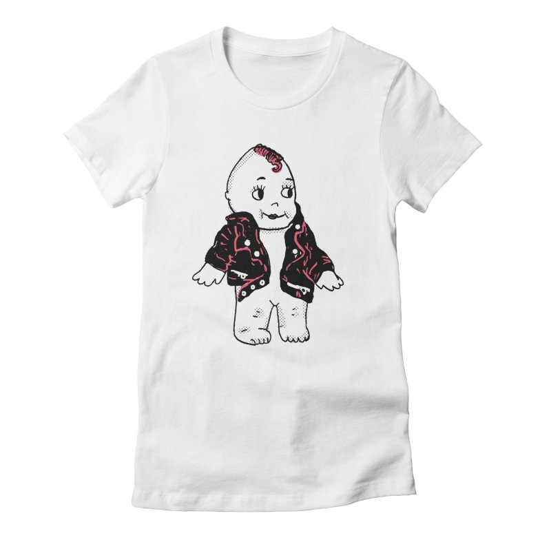Rocknroll Cutie Women's Fitted T-Shirt by Kelsey Zigmund Illustration