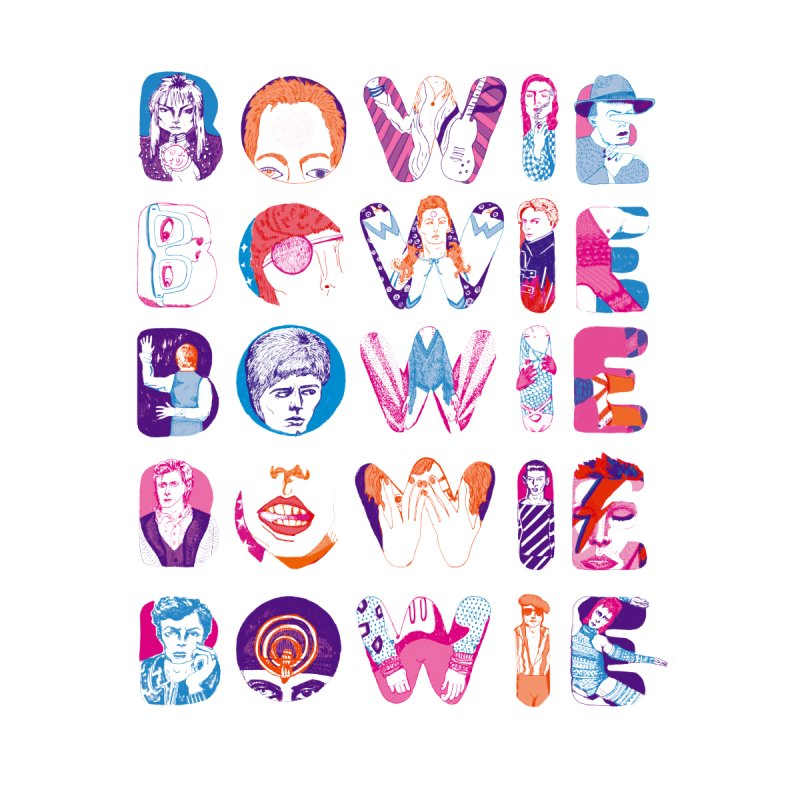 BOWIE BOWIE BOWIE BOWIE BOWIE Women's T-Shirt by Kelsey Zigmund Illustration