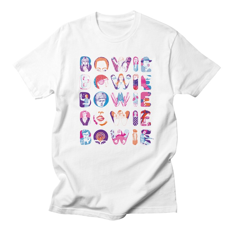 BOWIE BOWIE BOWIE BOWIE BOWIE Men's Regular T-Shirt by Kelsey Zigmund Illustration