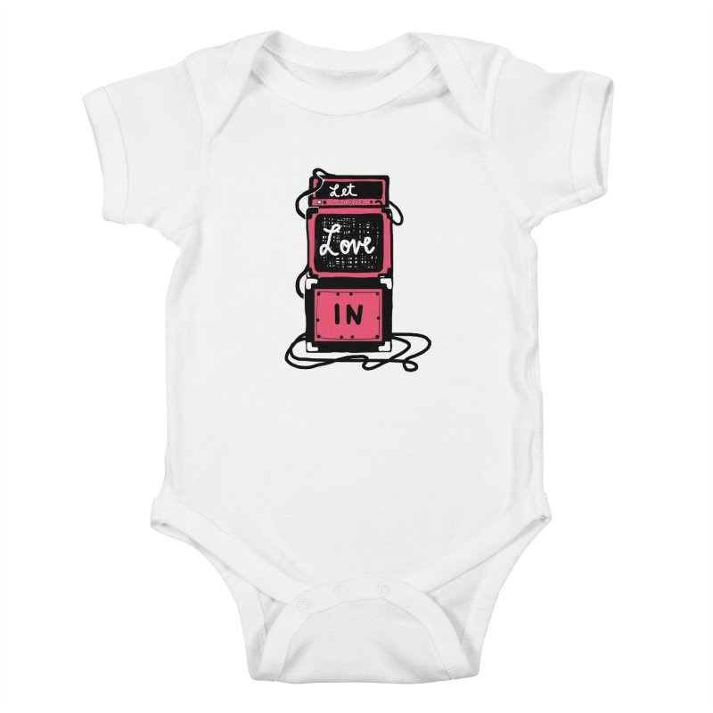 Let Love In Kids Baby Bodysuit by Kelsey Zigmund Illustration