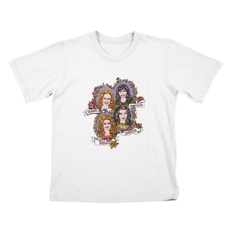 Ladies of Classic Country Kids T-Shirt by Kelsey Zigmund Illustration