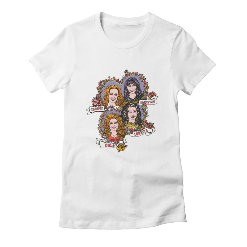 Ladies of Classic Country Women's Fitted T-Shirt by Kelsey Zigmund Illustration