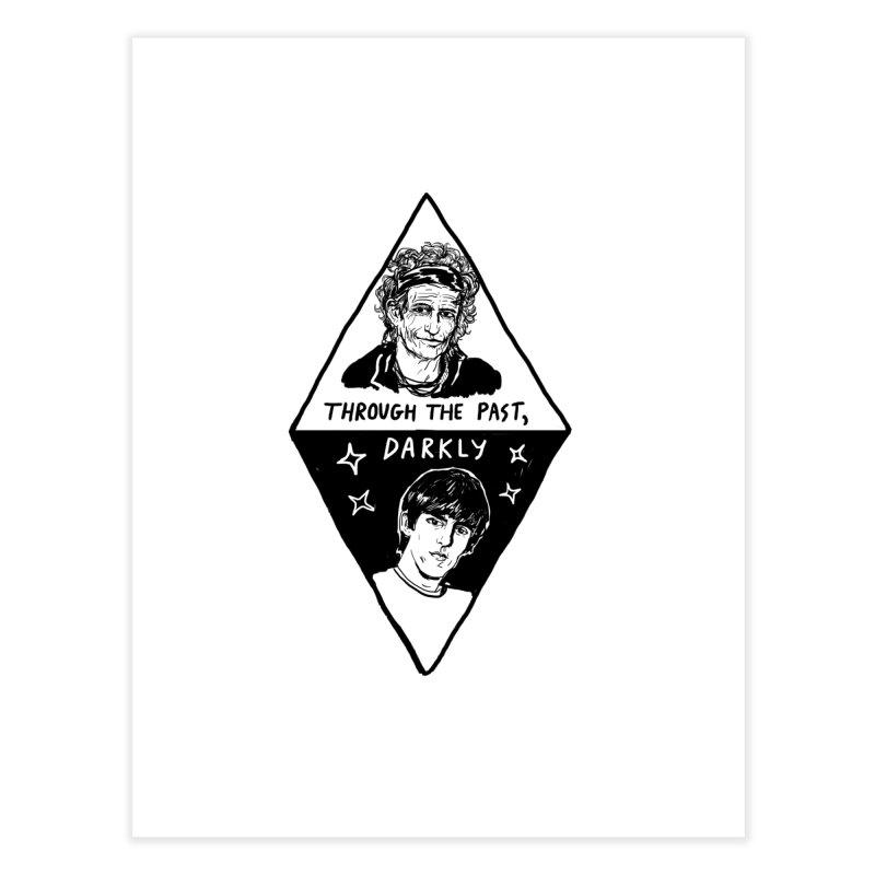 Keith Richards: Through The Past, Darkly Home Fine Art Print by Kelsey Zigmund Illustration