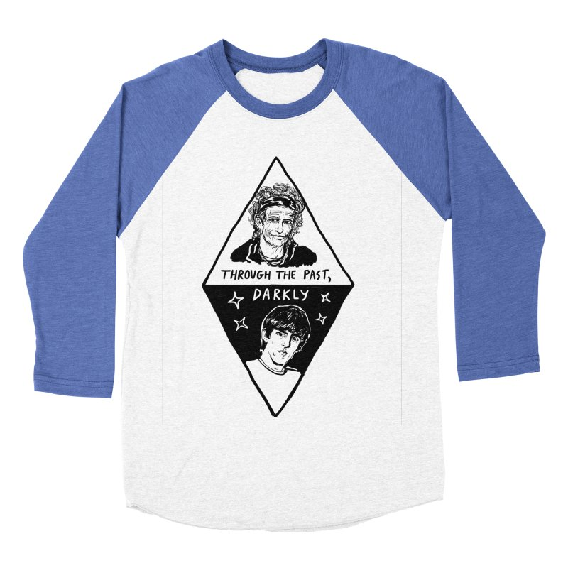 Keith Richards: Through The Past, Darkly Women's Baseball Triblend Longsleeve T-Shirt by Kelsey Zigmund Illustration