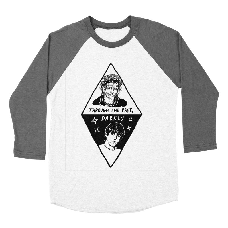 Keith Richards: Through The Past, Darkly Men's Baseball Triblend Longsleeve T-Shirt by Kelsey Zigmund Illustration