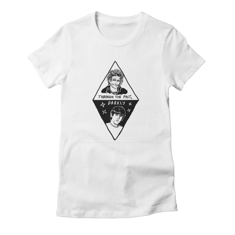 Keith Richards: Through The Past, Darkly Women's Fitted T-Shirt by Kelsey Zigmund Illustration
