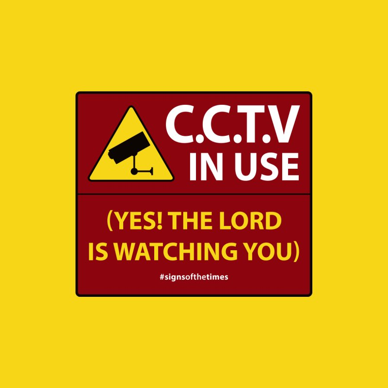 CCTV: The LORD is Watching You! - Christian Design Men's Longsleeve T-Shirt by Kelsorian T-shirt Shop