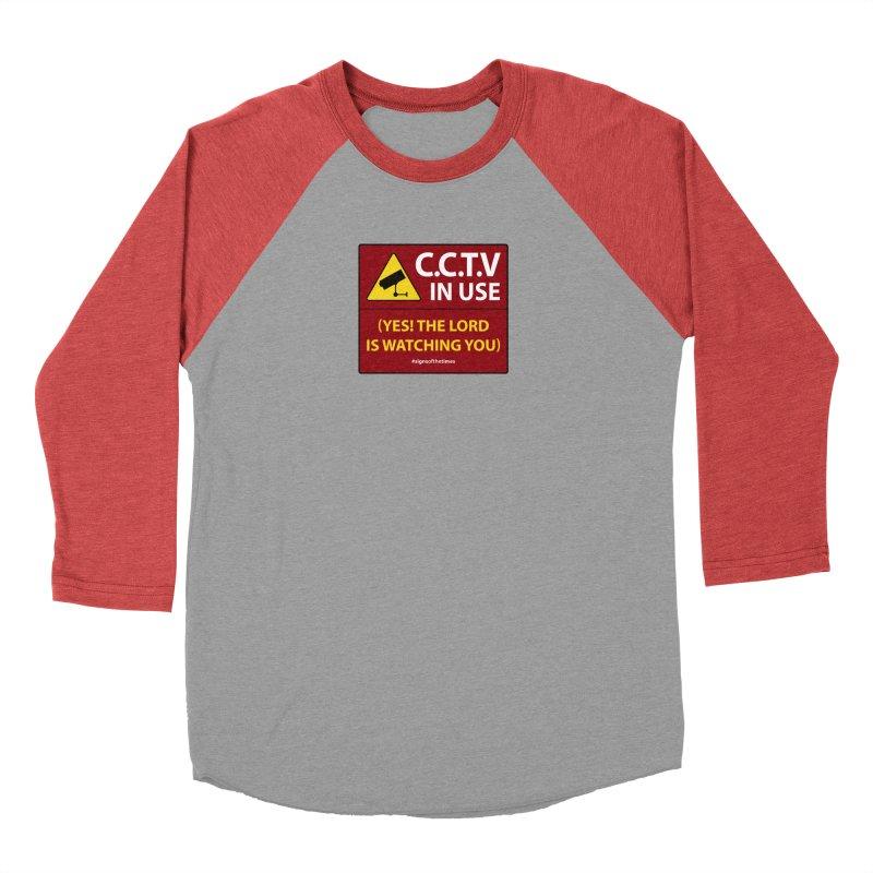 CCTV: The LORD is Watching You! - Christian Design Men's Longsleeve T-Shirt by Kelsorian T-shirt Shop
