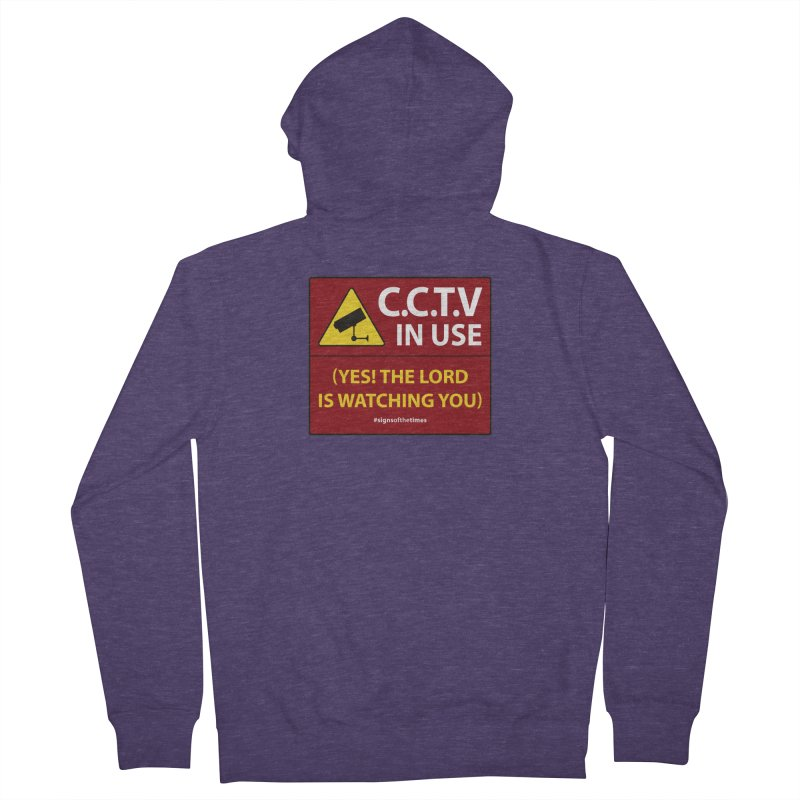 CCTV: The LORD is Watching You! - Christian Design Men's Zip-Up Hoody by Kelsorian T-shirt Shop