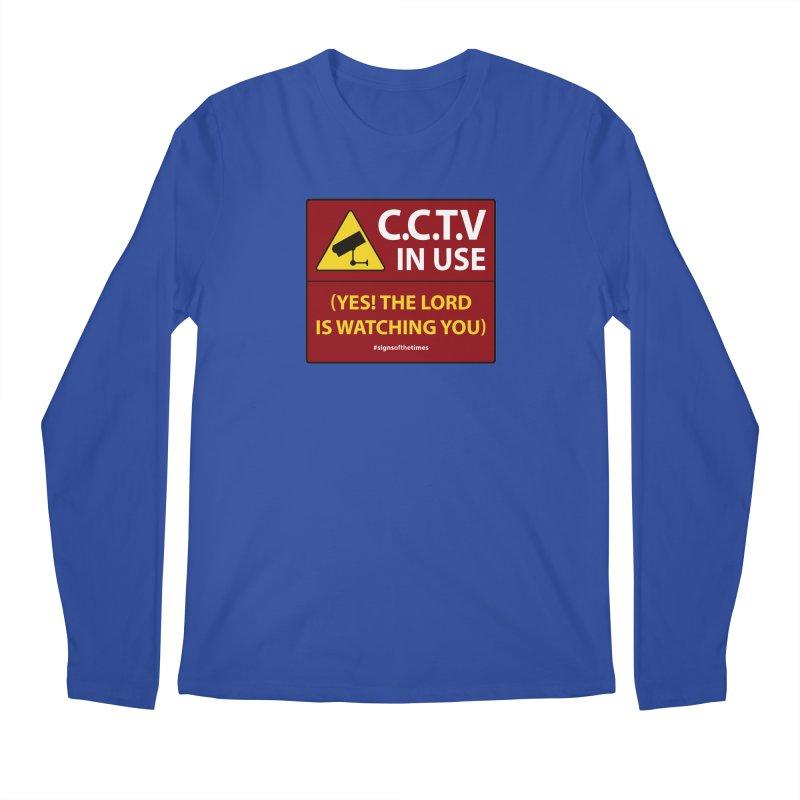 CCTV: The LORD is Watching You! - Christian Design Men's Regular Longsleeve T-Shirt by Kelsorian T-shirt Shop