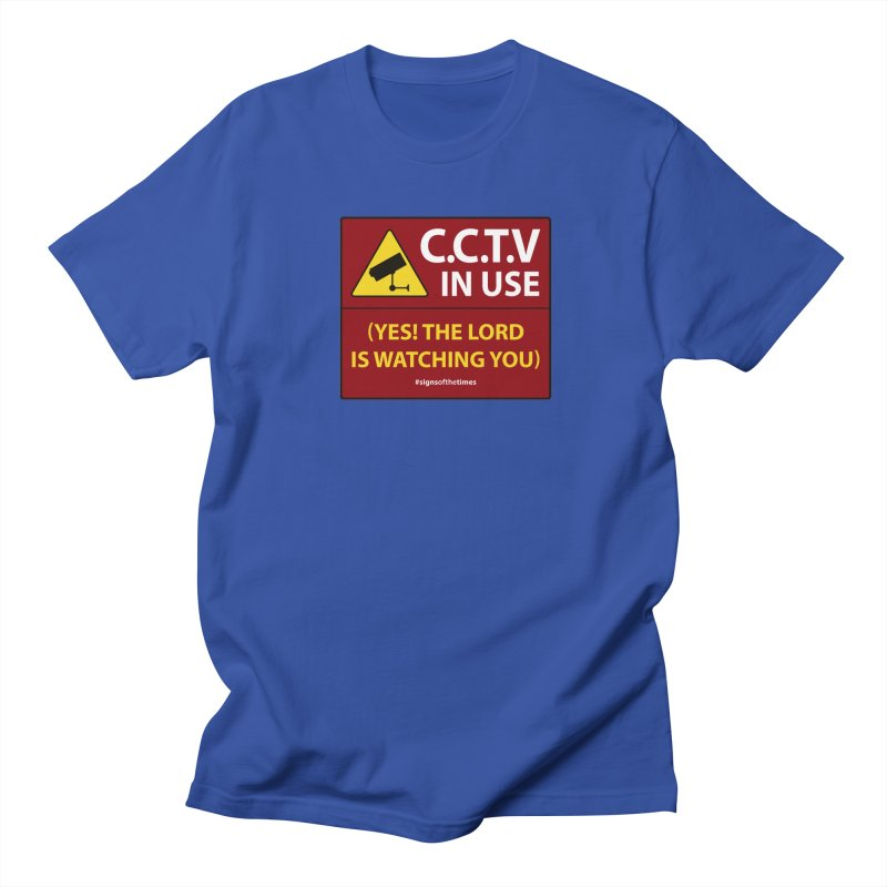CCTV: The LORD is Watching You! - Christian Design Men's Regular T-Shirt by Kelsorian T-shirt Shop