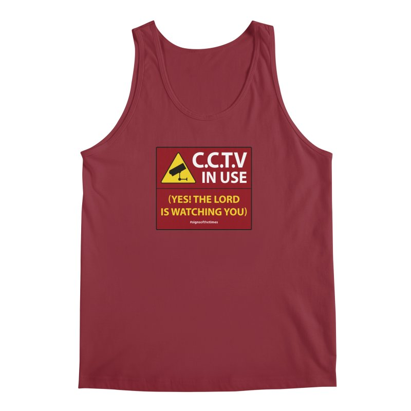 CCTV: The LORD is Watching You! - Christian Design Men's Regular Tank by Kelsorian T-shirt Shop