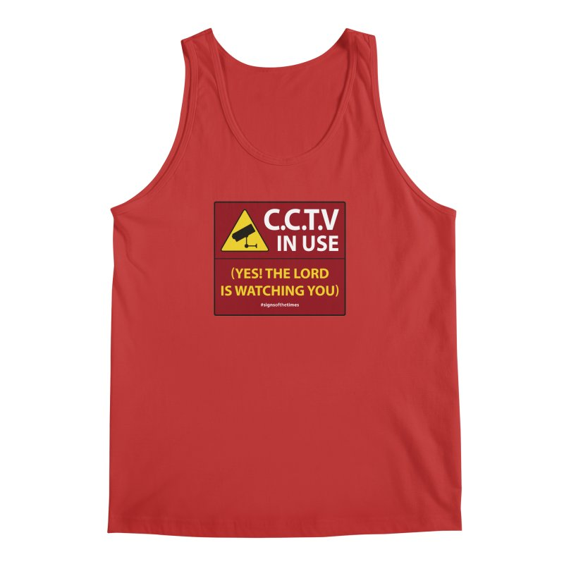 CCTV: The LORD is Watching You! - Christian Design Men's Tank by Kelsorian T-shirt Shop